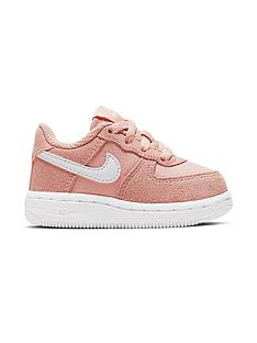 quality design 910e7 70dc1 Nike Air Force 1 Infant Trainers - Coral White