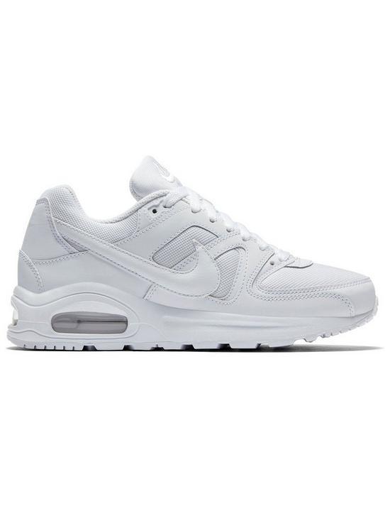 7da85c89e5 Nike Air Max Command Flex Junior Trainers - White | very.co.uk