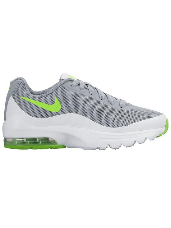 5213808d6a Nike Air Max Invigor Junior Trainers - Grey/Green | very.co.uk