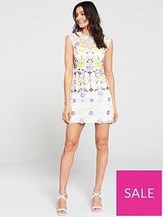 f9e0877df6b KAREN MILLEN Garden Party Chemical Lace Dress - White/Multi