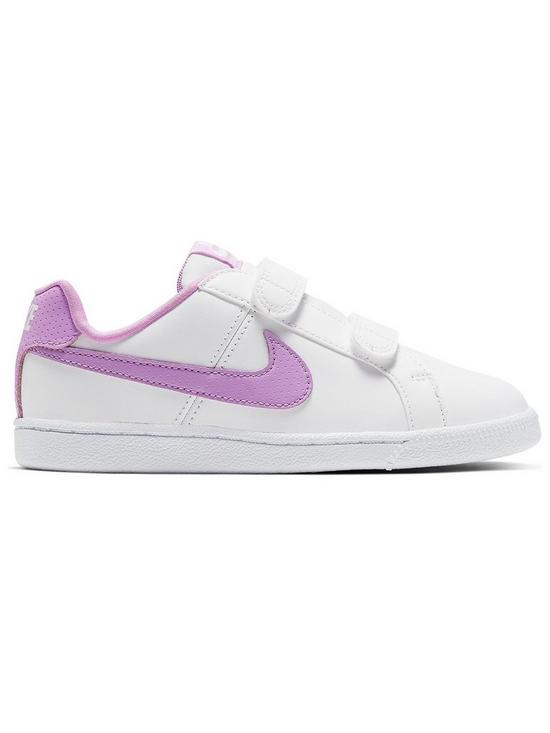8a3f0a80d8b13 Nike Court Royale Childrens Trainers - White/Pink | very.co.uk
