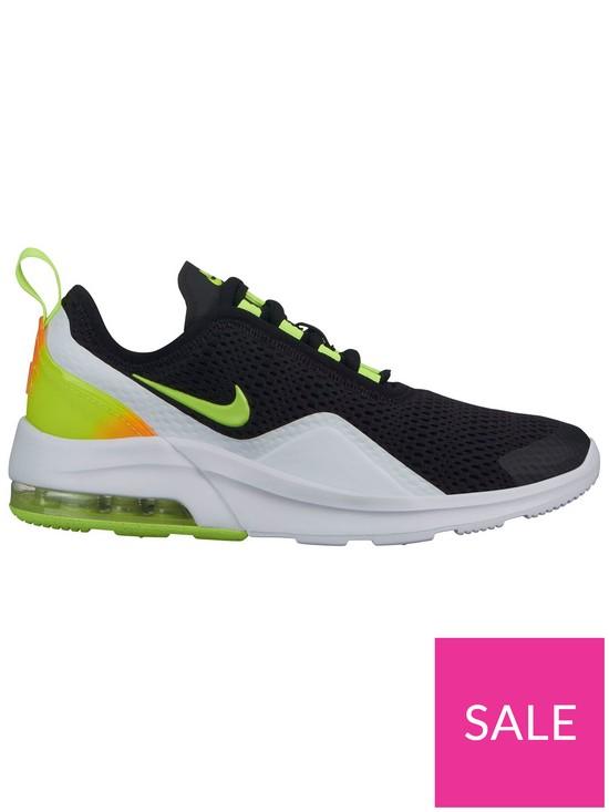 premium selection ccc2f e1923 Nike Air Max Motion 2 Junior Trainers - Black Volt