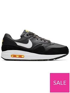 best service 7e41c 48b8c Nike Air Max 1 Junior Trainers - Black White