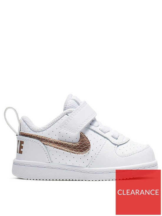 42b9e339da Nike Court Borough Low Infant Trainers - White/Gold   very.co.uk