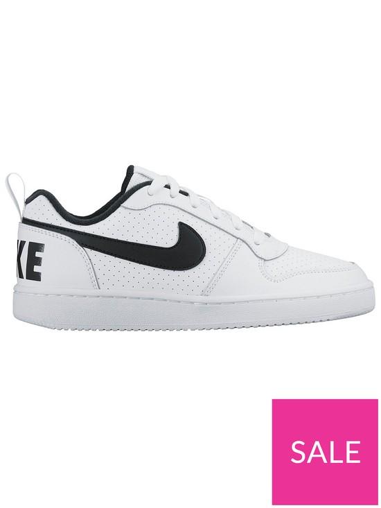 best website 936c4 45efb Nike Court Borough Low Junior Trainers - White Black