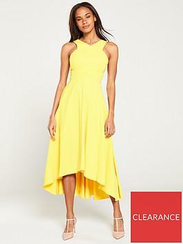 karen-millen-colourful-midi-day-dress-yellow