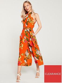 karen-millen-botanical-print-silk-jumpsuit-redmulti