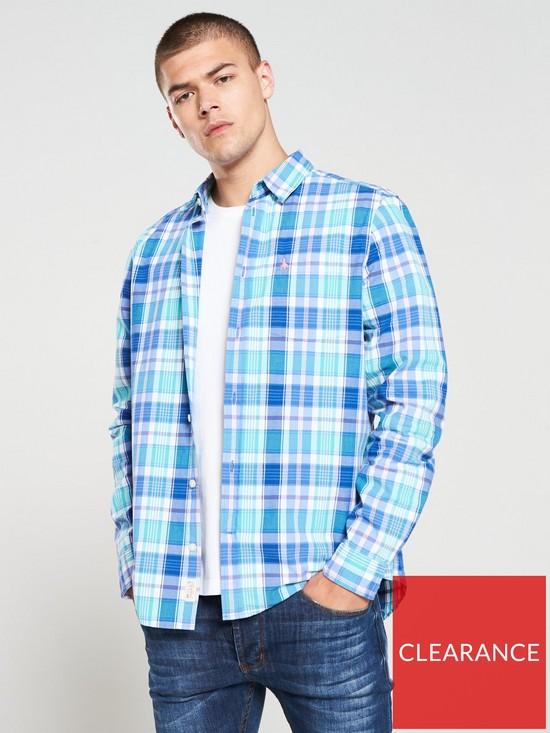 f60feec1440 Earlston Checked Long Sleeve Shirt - Teal Check