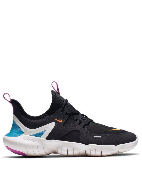 best sneakers d4586 a16d1 ... Nike Free Run 5.0 Junior Trainers - Black/Orange. View larger