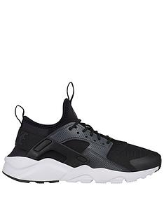 f1694851ceb0f Nike Air Huarache Run Ultra Junior Trainers - Black White