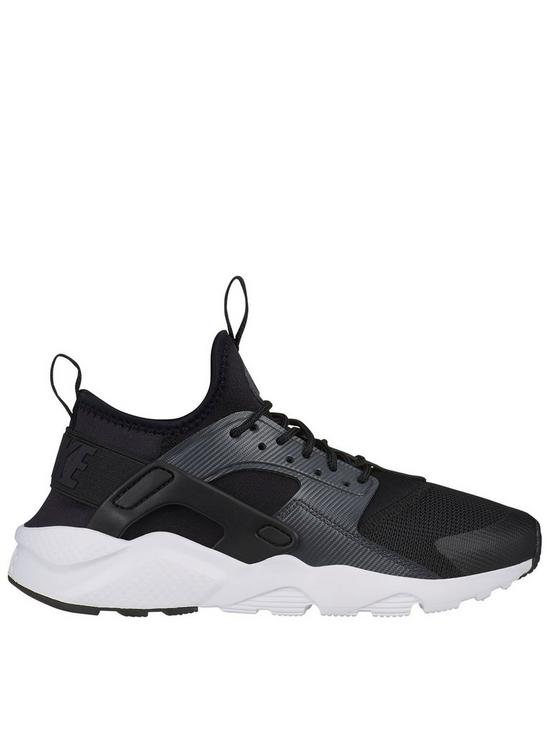 4e1f9b16651a Nike Air Huarache Run Ultra Junior Trainers - Black White
