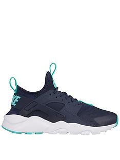 0736e1be9afa6 Nike Air Huarache Run Ultra Junior Trainers - Navy