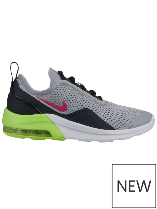 new arrival 1113c d7669 Nike Air Max Motion 2 Junior Trainers - Grey Pink
