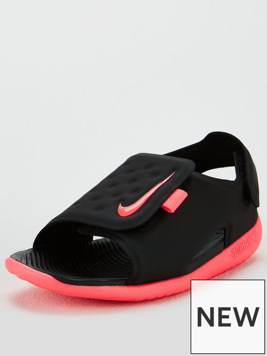 adb31d0e4504 Nike Sunray Adjust 5 Infant Sandals - Black Pink