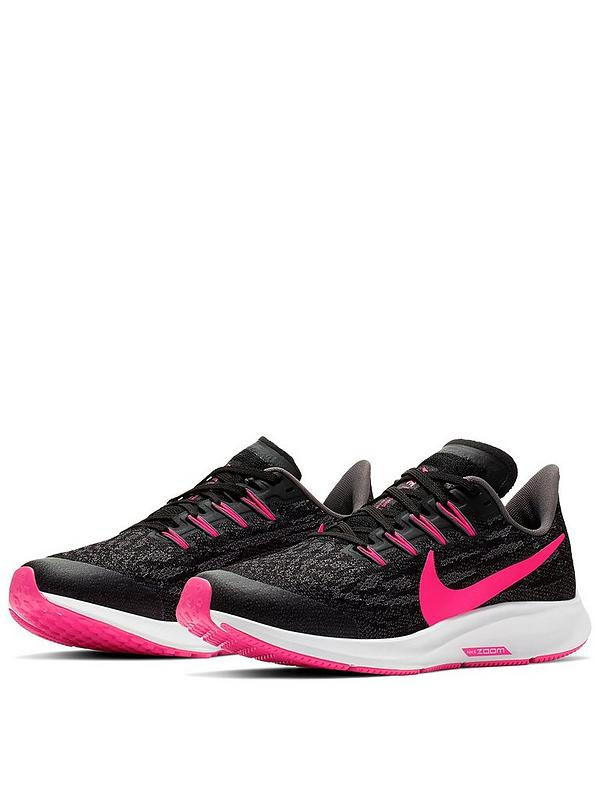 on wholesale 100% authentic on feet images of Air Zoom Pegasus 36 Junior Trainers - Black/Pink