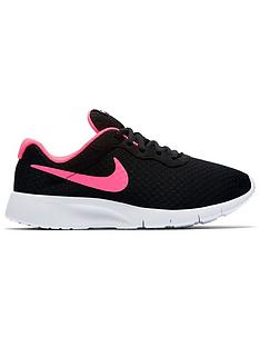 check out 4468e 58d10 Nike Tanjun Junior Trainers - Black Pink