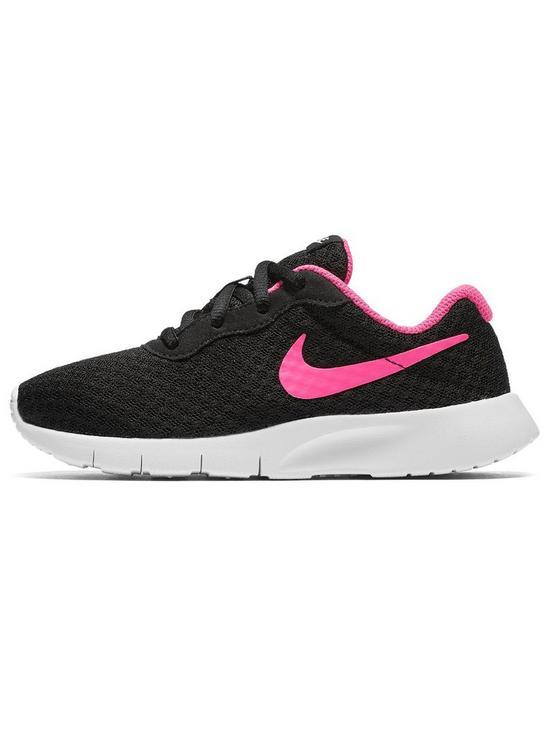 49f6ec5570 Nike Tanjun Childrens Trainers - Black/Pink | very.co.uk
