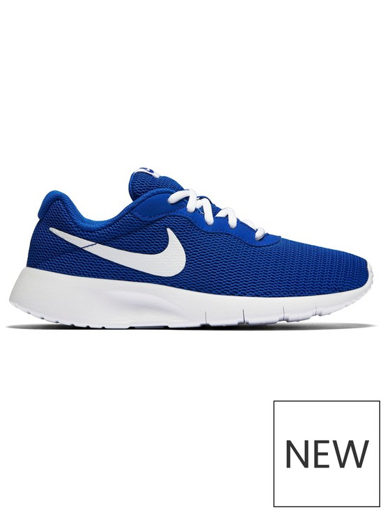 online store 809e1 40d9e Nike Tanjun Junior Trainers - Blue White