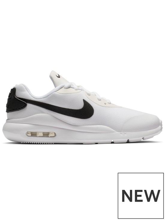 1500124333295 Nike Air Max Oketo Junior Trainers - White Black