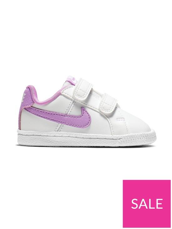 5e14e7c89e1e5 Nike Court Royale Infant Trainers - White/Pink | very.co.uk