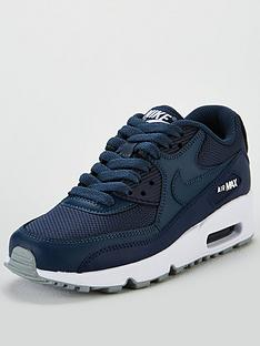 reputable site 701f5 a1cf4 Nike Air Max 90 Mesh Junior Trainer