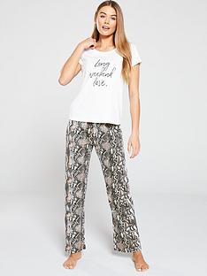 e02eff96f9ad V by Very Snake Print S s Pj Set