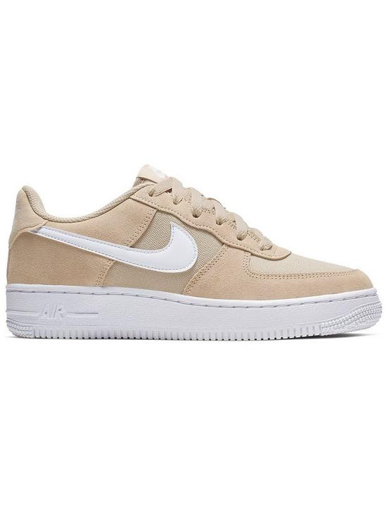 newest 32511 d8e8c Nike Air Force 1 Junior Trainers - Sand White