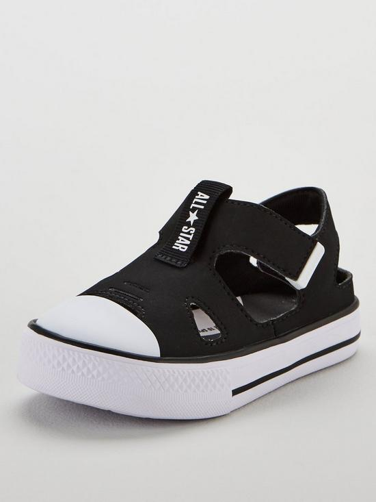 separation shoes 140d1 4fa1a Converse Chuck Taylor All Star Superplay Infant Sandals - Black White