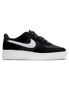 new style d68d9 52bc3 Nike Air Force 1 Junior Trainers - Black White