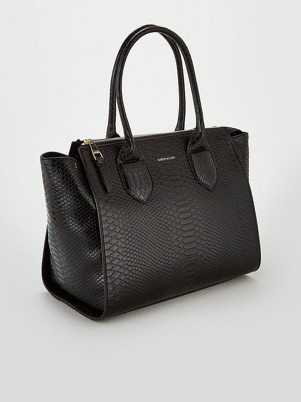 a22cbceefb6 KAREN MILLEN Zip Top Tote Bag - Black | very.co.uk