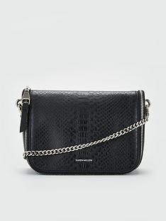 karen-millen-leather-cross-body-bag-black