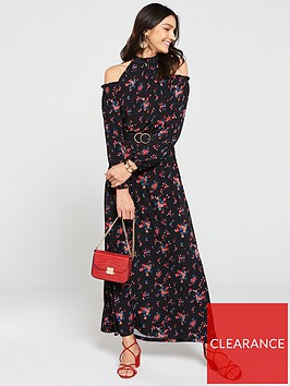v-by-very-petite-halter-cold-shoulder-maxi-dress-floral-print