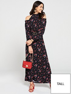 v-by-very-tall-halter-cold-shoulder-maxi-dress-floral-print