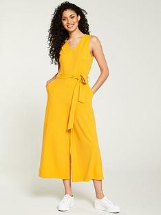 v-by-very-sleeveless-culotte-jumpsuit-yellow