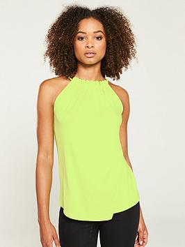 v-by-very-halter-sleeveless-jersey-top-lime