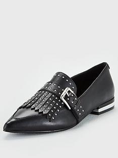 karen-millen-leather-loafers-black