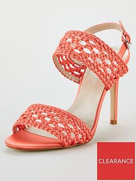 karen-millen-weave-2-strap-sandals-coral