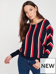 wallis-vertical-stripe-batwing-jumper