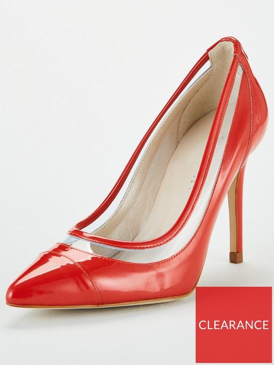 b9c9b54e3eb Patent Leather Court Shoes - Orange