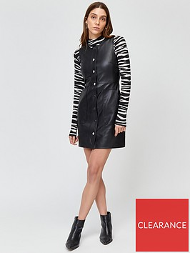 warehouse-pocket-detail-pu-dress
