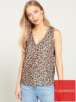v-by-very-woven-front-jersey-vest-animal-print