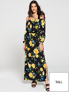 v-by-very-tall-bardot-maxi-dress-floral-print