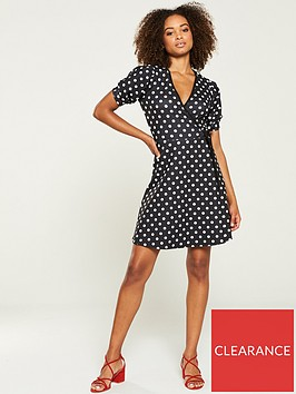 v-by-very-jersey-wrap-tea-dress-polka-dot