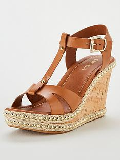 dc07620a157 Carvela Karoline Wedge Sandals - Tan