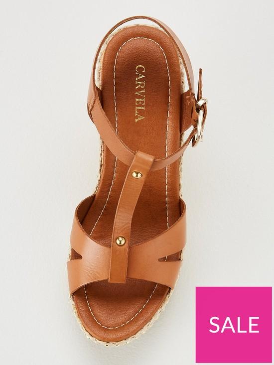 9922f596b ... Carvela Karoline Wedge Sandals - Tan. View larger