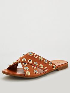 carvela-koncern-flat-sandals-tan