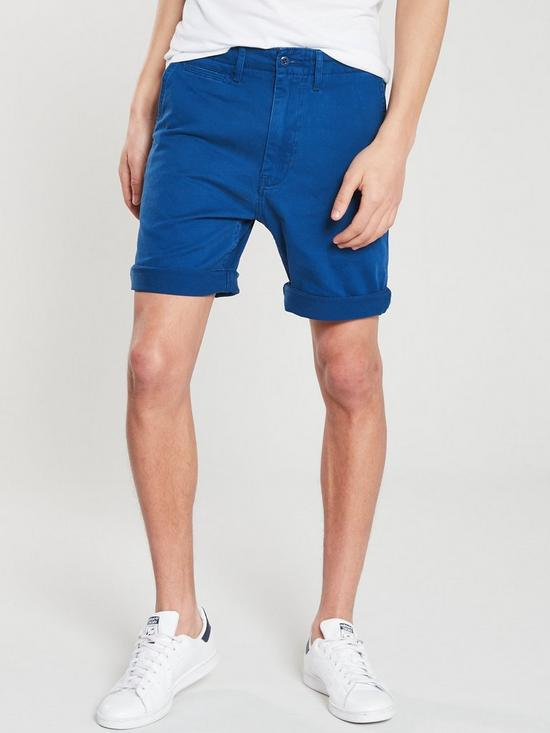 4a7f0623 Levi's 502 True Chino Short - Spirit Blue | very.co.uk
