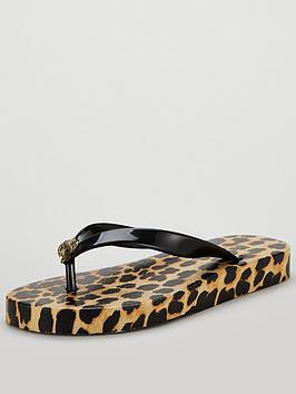 kurt-geiger-london-mona-bejeweled-animal-print-flip-flops--nbspleopardnbsp