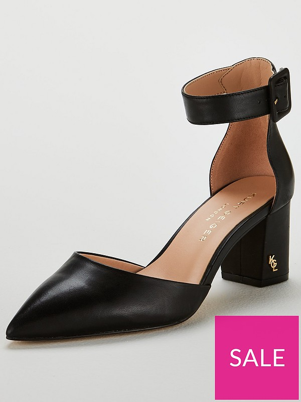 99895f0b33 KURT GEIGER LONDON Burlington Heeled Shoe - Black | very.co.uk