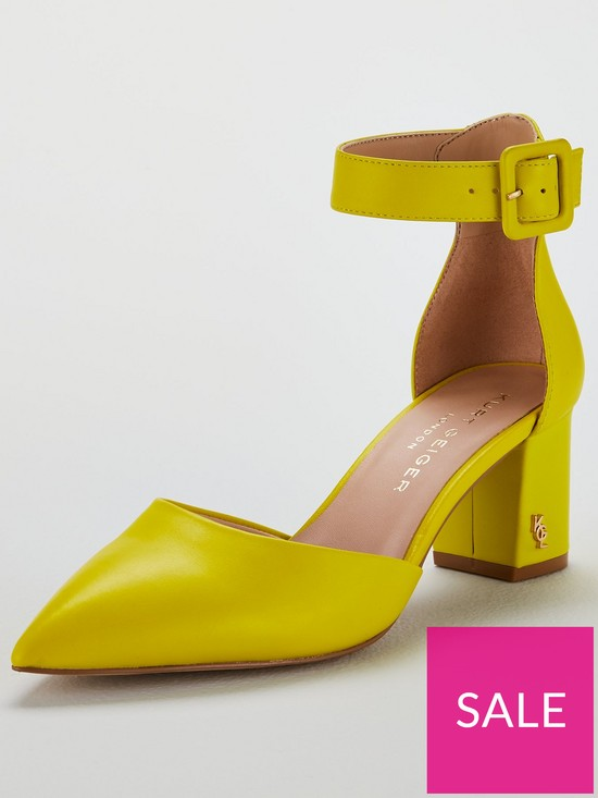 be89a2634e KURT GEIGER LONDON Burlington Heeled Shoe - Lime | very.co.uk